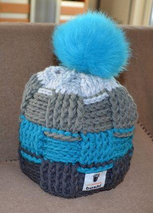 Boshi Mütze Tsu Mit Kunstfellbommel Häkeln Pinterest Mütze