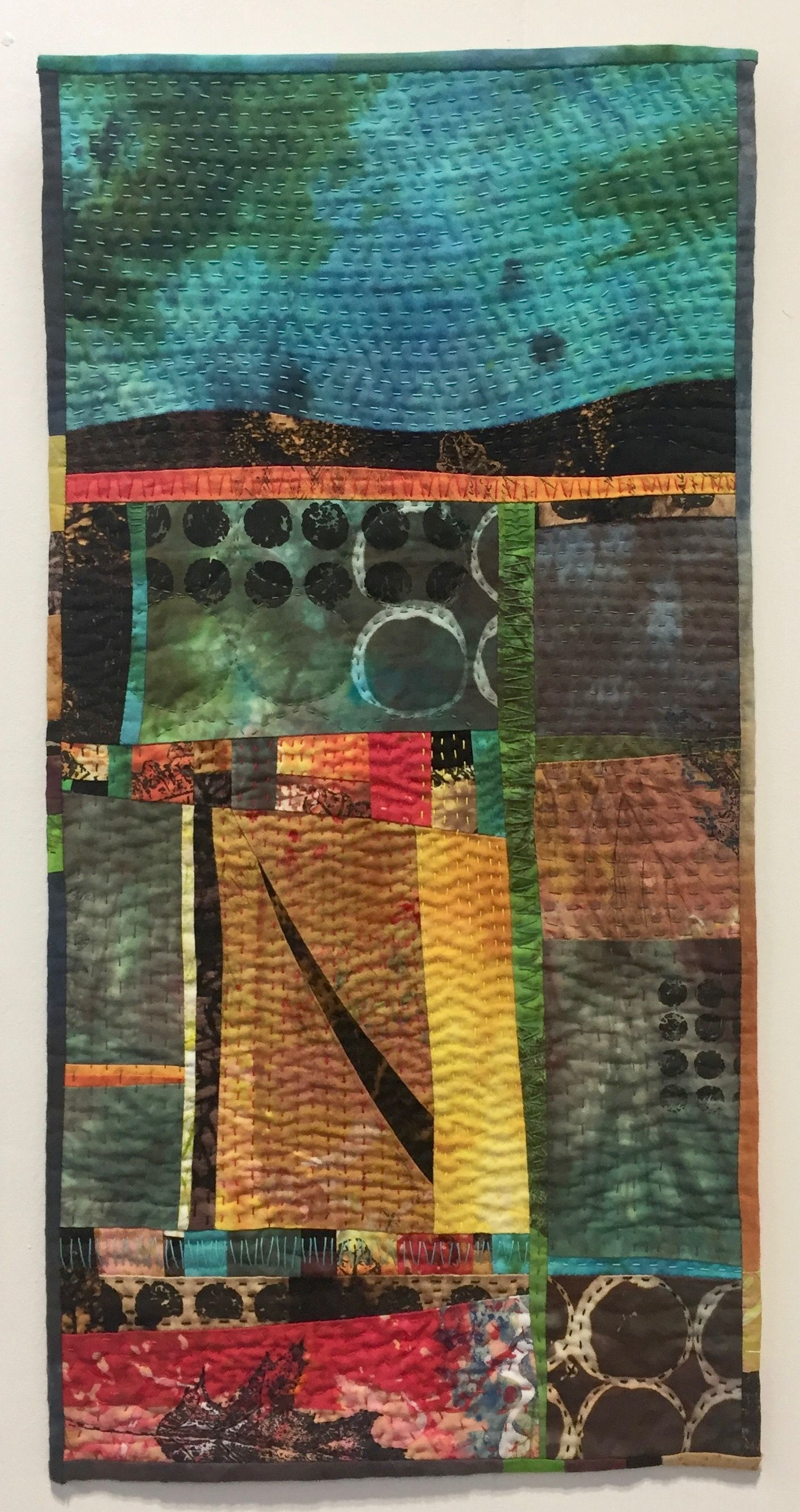 Quilt Festival Birmingham Autumn Landscape By Ineke Berlyn 1956 2017 Festival Of Quilts