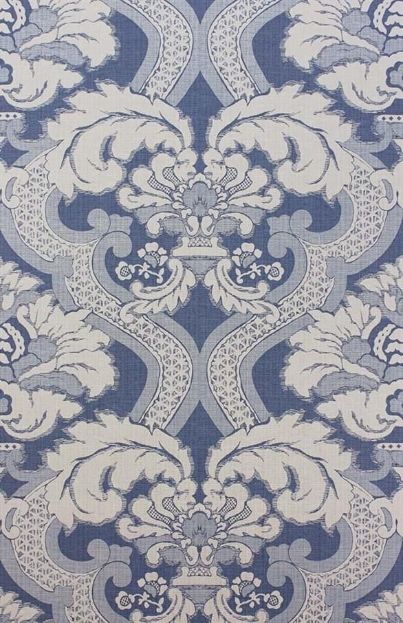 Meredith Wallpaper in Blue by Nina Campbell for Osborne