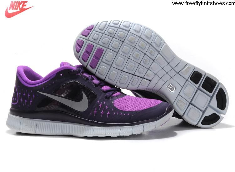 buy online 28ea4 98d46 Wholesale Cheap Laser Purple Reflective Silver Grand Purple Nike Free Run 3  Women s Running Shoes Sports Shoes Store