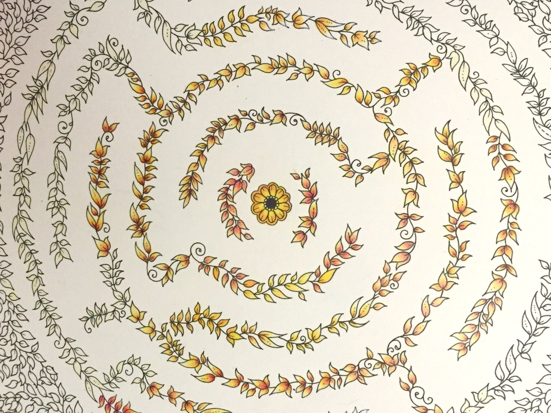 Colored pencil tutorial secret garden adult coloring book adult coloring tutorials for Secret garden adult coloring book