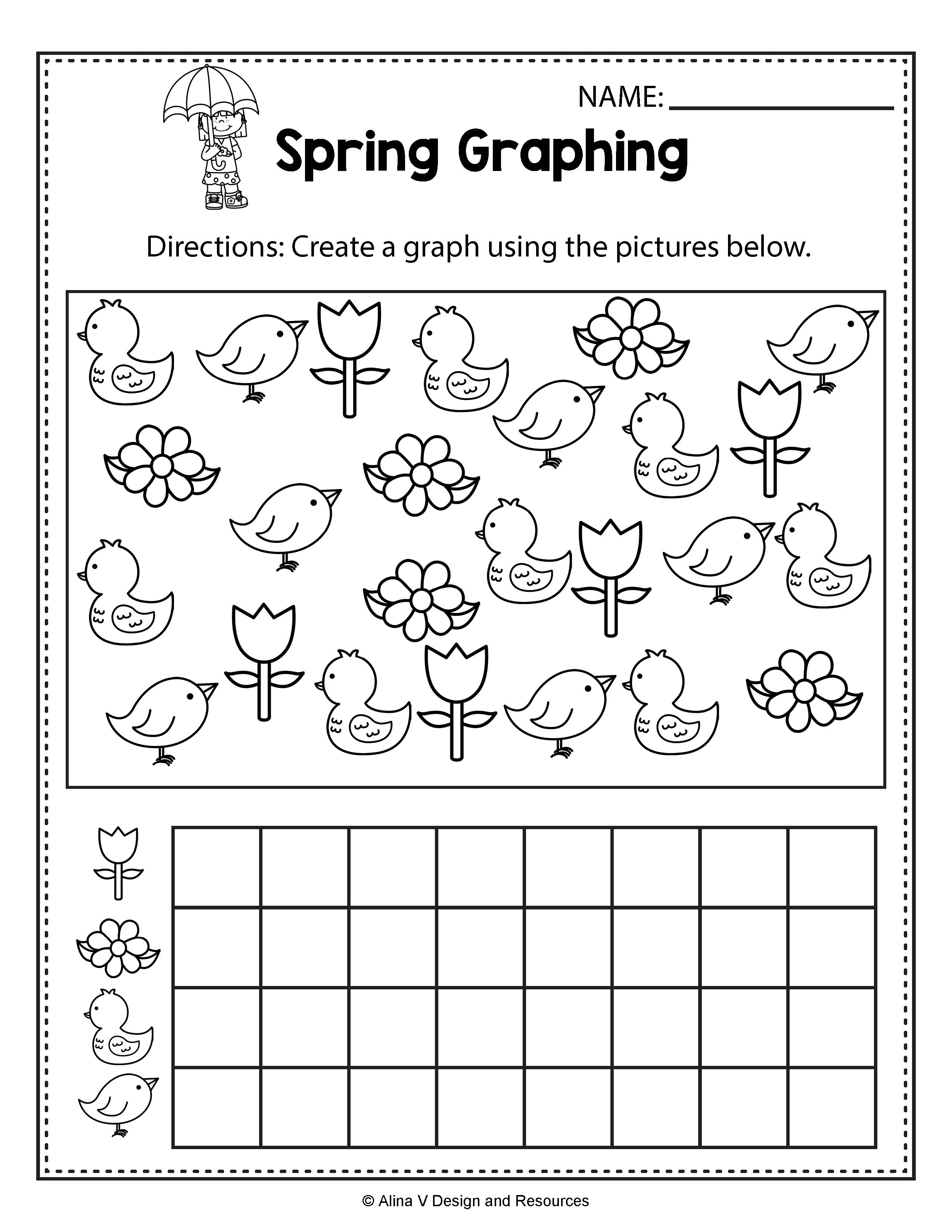 Spring Graphing Spring Math Worksheets And Activities For
