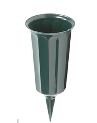 This Green Perma Plastic Cemetery Vase Is 95 Inches Tall And