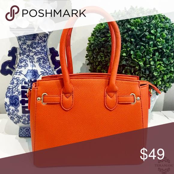 c350a311247f Classic Orange Handbag Purse Classic Orange Handbag Purse with Attachable  Cross-body Strap. This