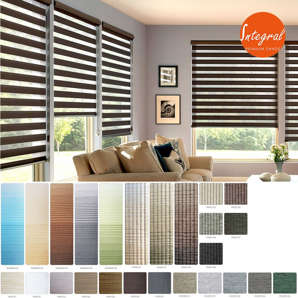 BlackOut Window Blinds Sheer Double Layered Roll-Up Shade Custom Made To Order