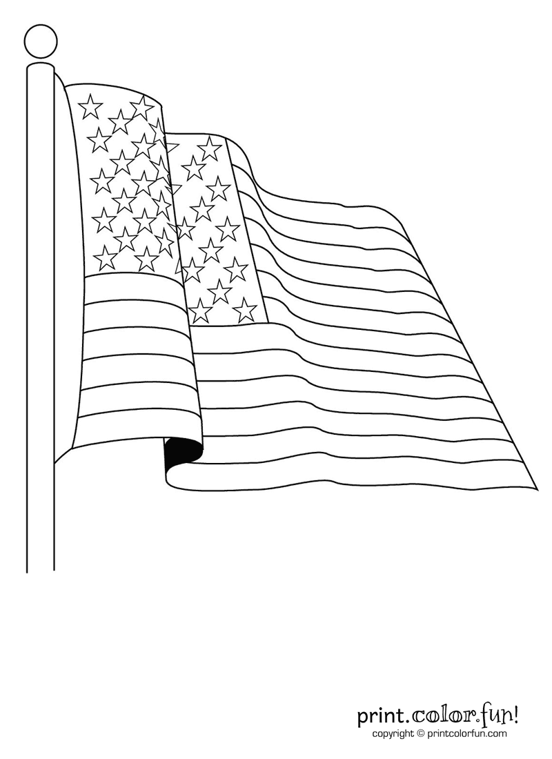 American Flag 50 Stars Coloring Pages