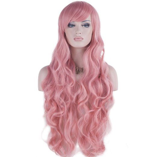 Brown DAOTS 32 Cosplay Wigs Long Wig Hair Heat Resistant Curly Wave Hairs for Women