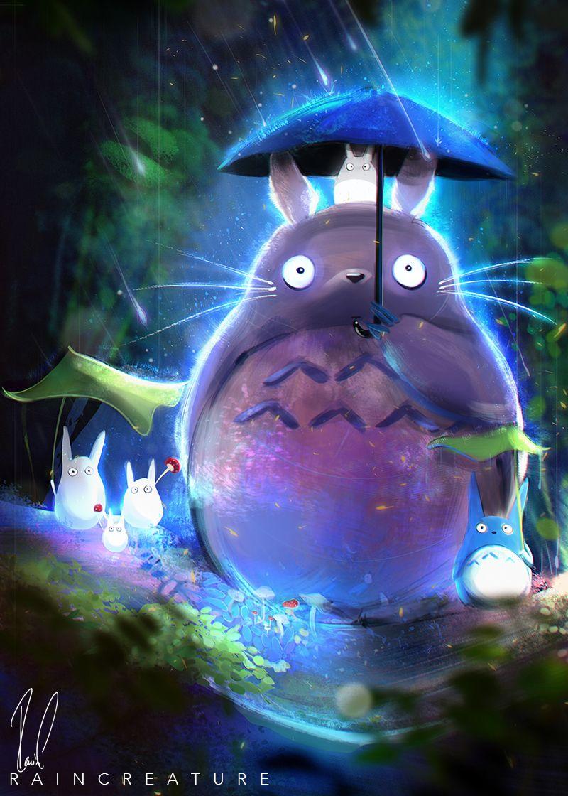My Neighbor Totoro By Raincreat On Deviantart Totoro Art Ghibli Artwork Studio Ghibli Fanart