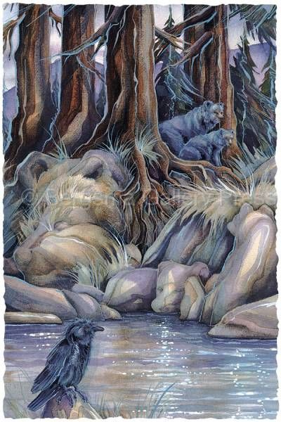 Bearly There by Jody Bergsma ~ black bears