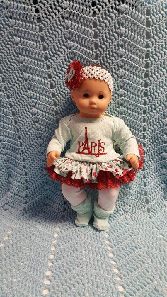 fbd63e0b4fa9 Baby Doll Clothes Glitter Me Paris 15 inch doll by TheDollyDama ...