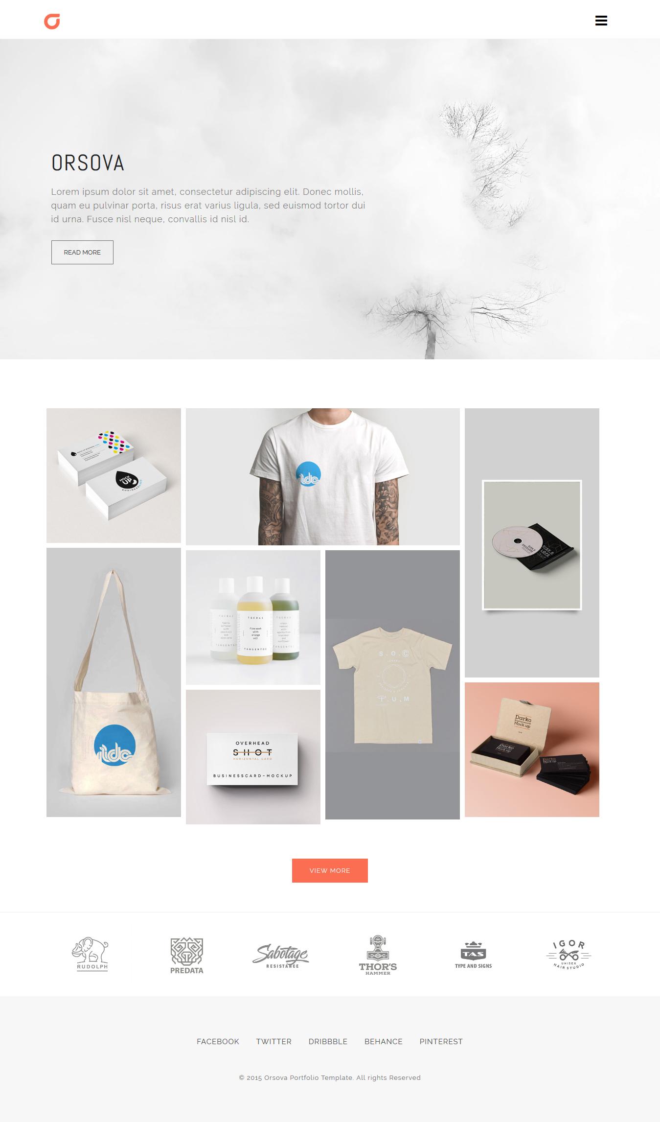 Orsova Creative Portfolio Portfolio Web Design Web Design Tips Minimal Web Design