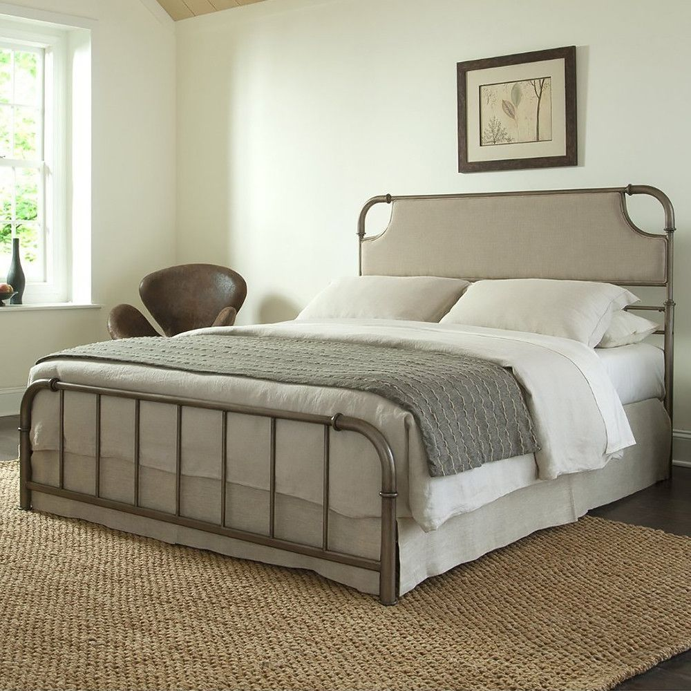Best Fillmore Carbon Steel Folding Bed Frame With Headboard 640 x 480