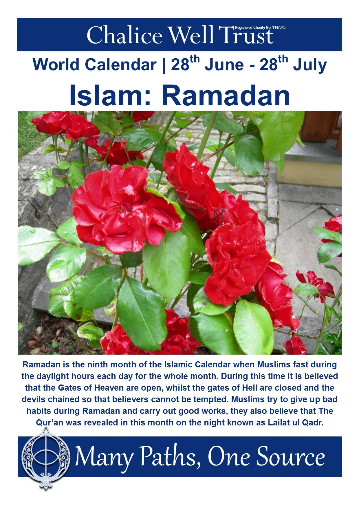 Ramadan Is The Ninth Month Of Islamic Calendar When Muslims Fast During Daylight Hours