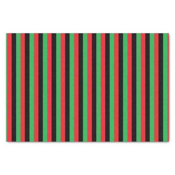 Vertical Red Black and Green Stripes Tissue Paper #christmas #giftwrap  #xmas #wrappingpaper