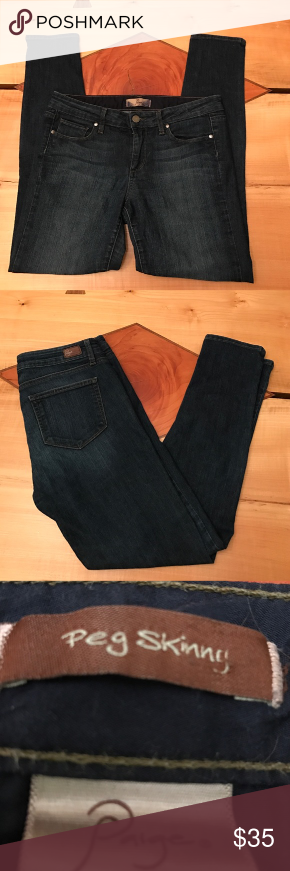 Paige Peg Skinny Jeans Paige Peg Skinny Jeans. Size 29. Great condition, minimal wear. Paige Jeans Pants Skinny
