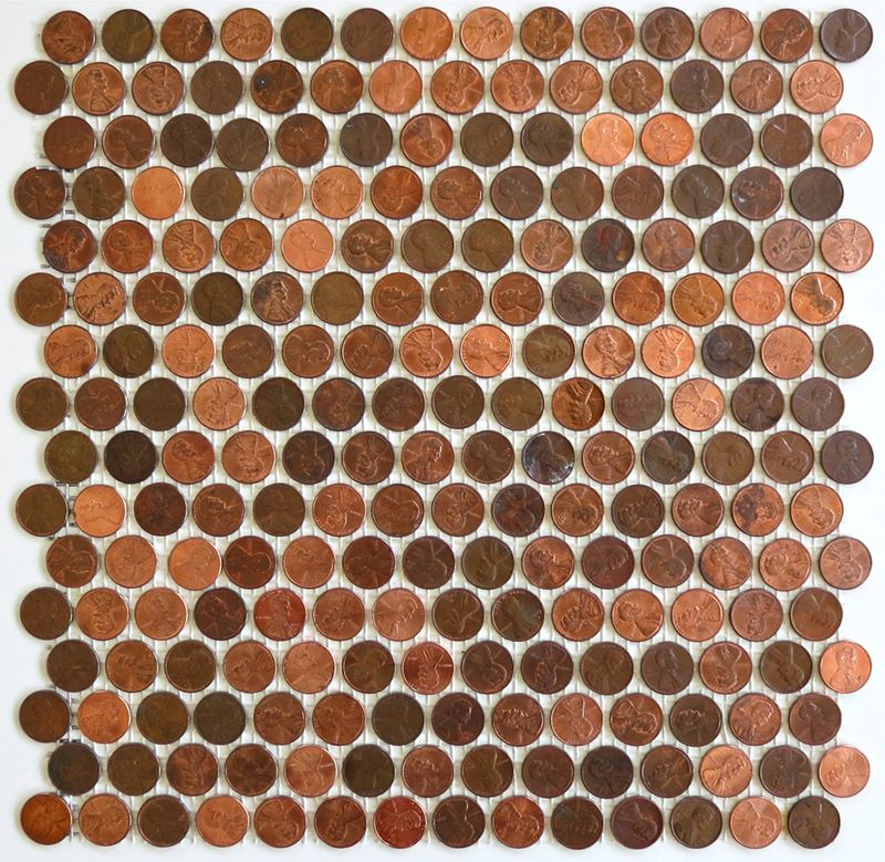 Penny Round Backsplash: Real Penny Mosaics ALL HEADS Or TAILS By Modwalls Penny