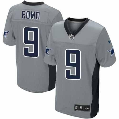 finest selection a6758 a15a3 elite tony romo mens jersey dallas cowboys 9 autographed ...