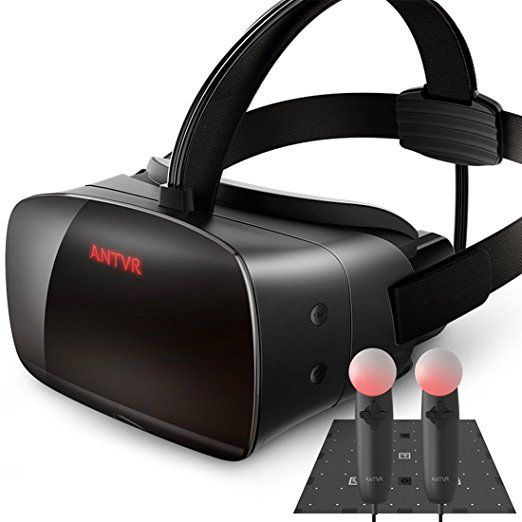 13b2e09e2d37 Amazon.com  ANTVR Virtual Reality Headset for PC - Black  Cell Phones    Accessories