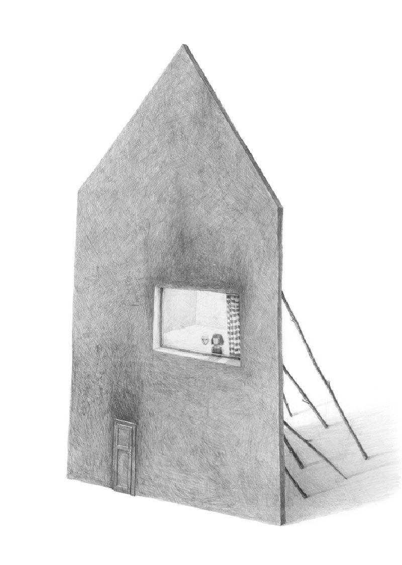Houses Drawings By Stefan Zsaitsits デザイン ペインティング 插画
