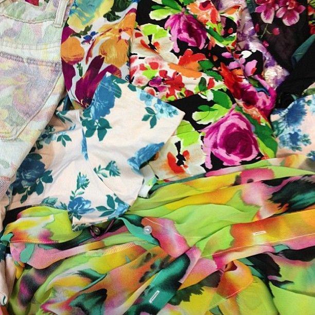 Floral prints overload! #prints #americanapparel