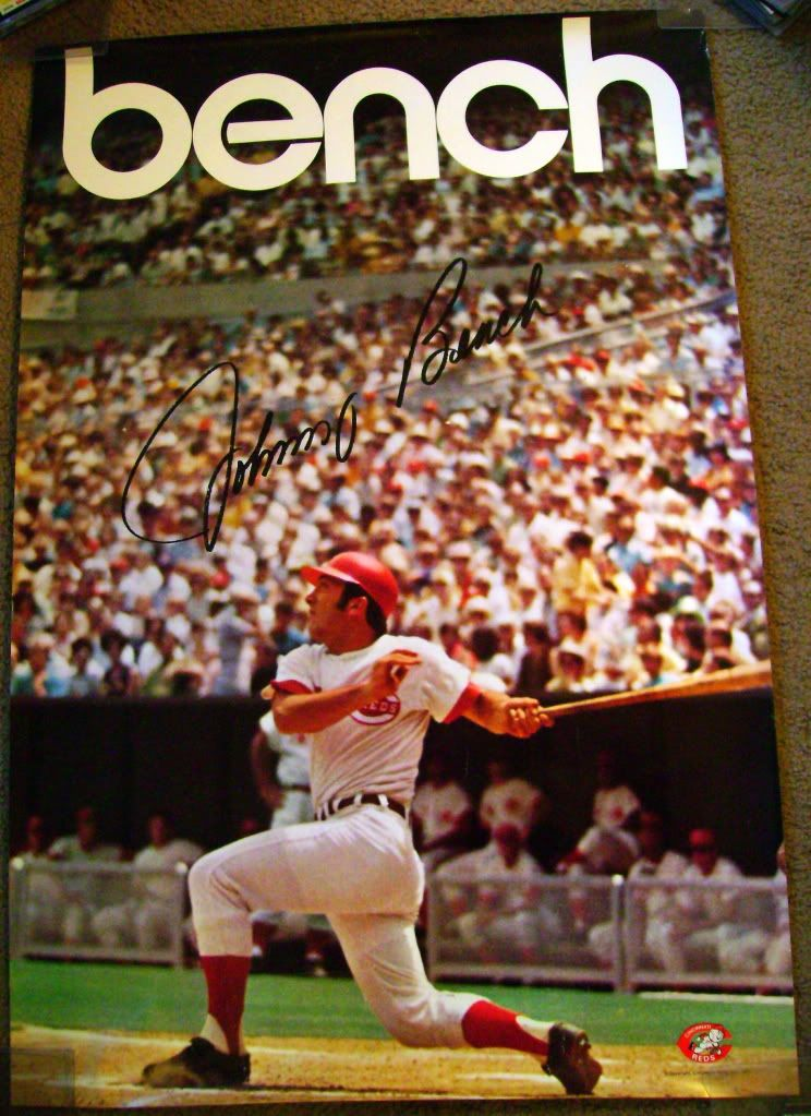 this same poster of johnny bench hung on my wall as a kid on poster my wall id=88616