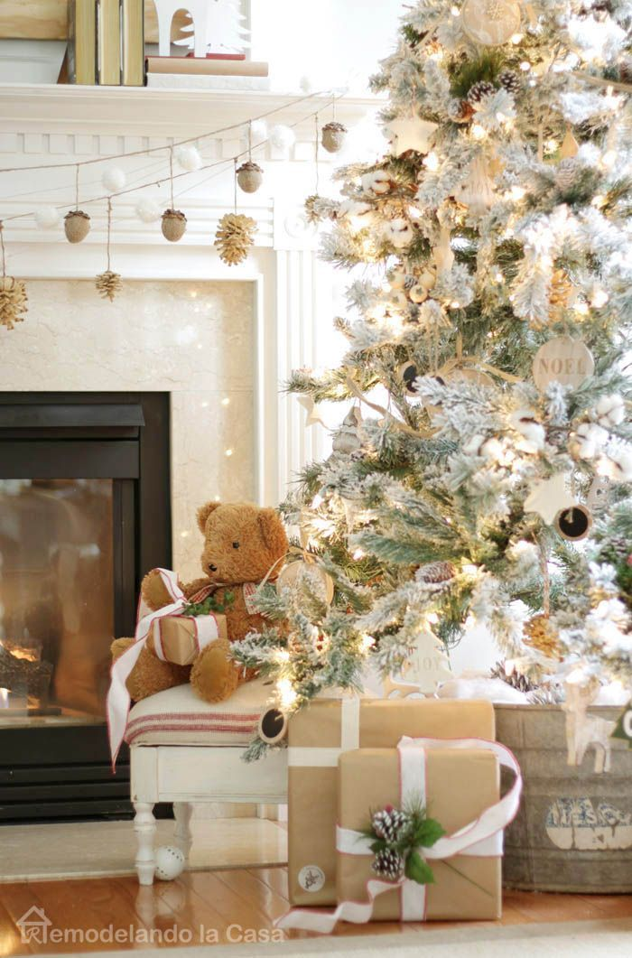 Rustic Christmas tree.
