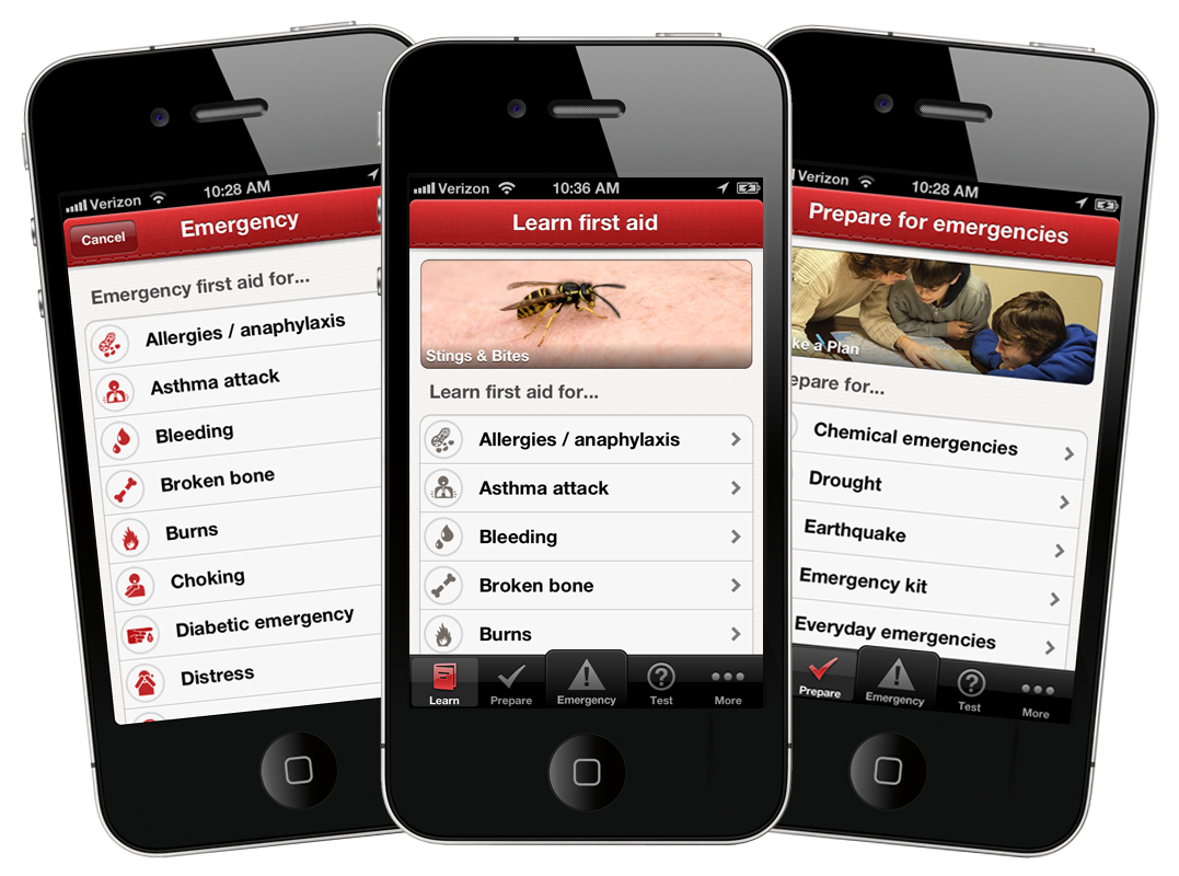 American Red Cross First Aid App for iPhone and Android
