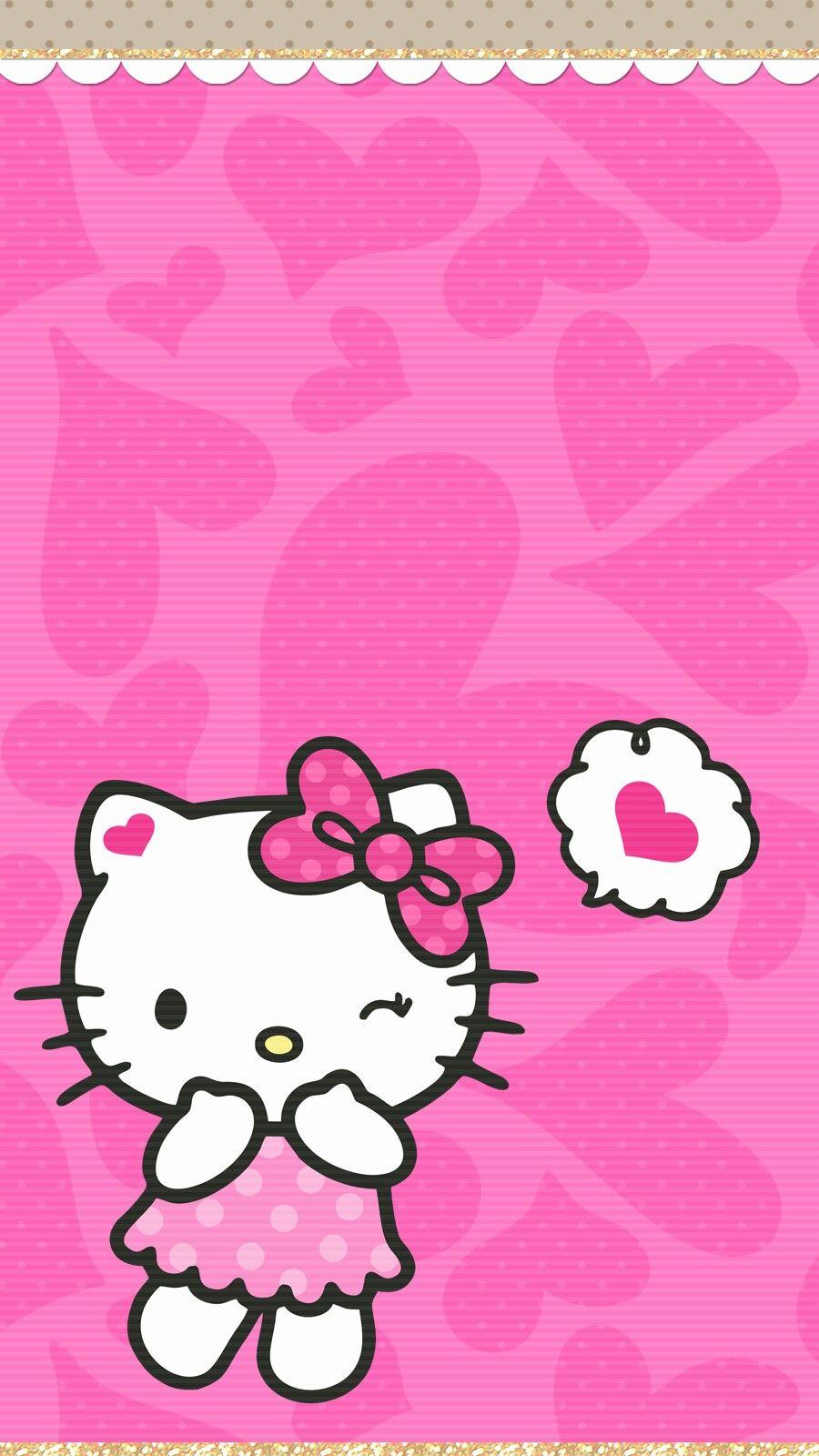 Background Cute Hello Kitty