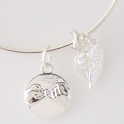 Pinky Promise Best Friends Forever Silver Wire by YourCharmedStory, $14.00
