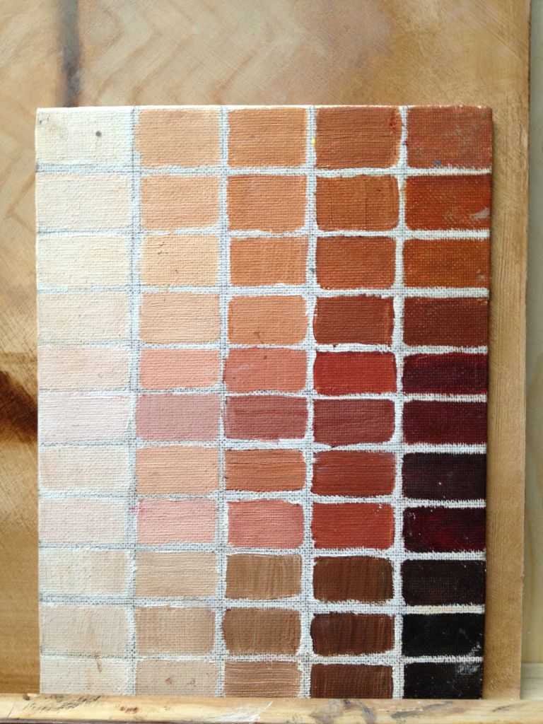 Skin Tone Possibilities With Transparent Red Oxide As A Base Arts