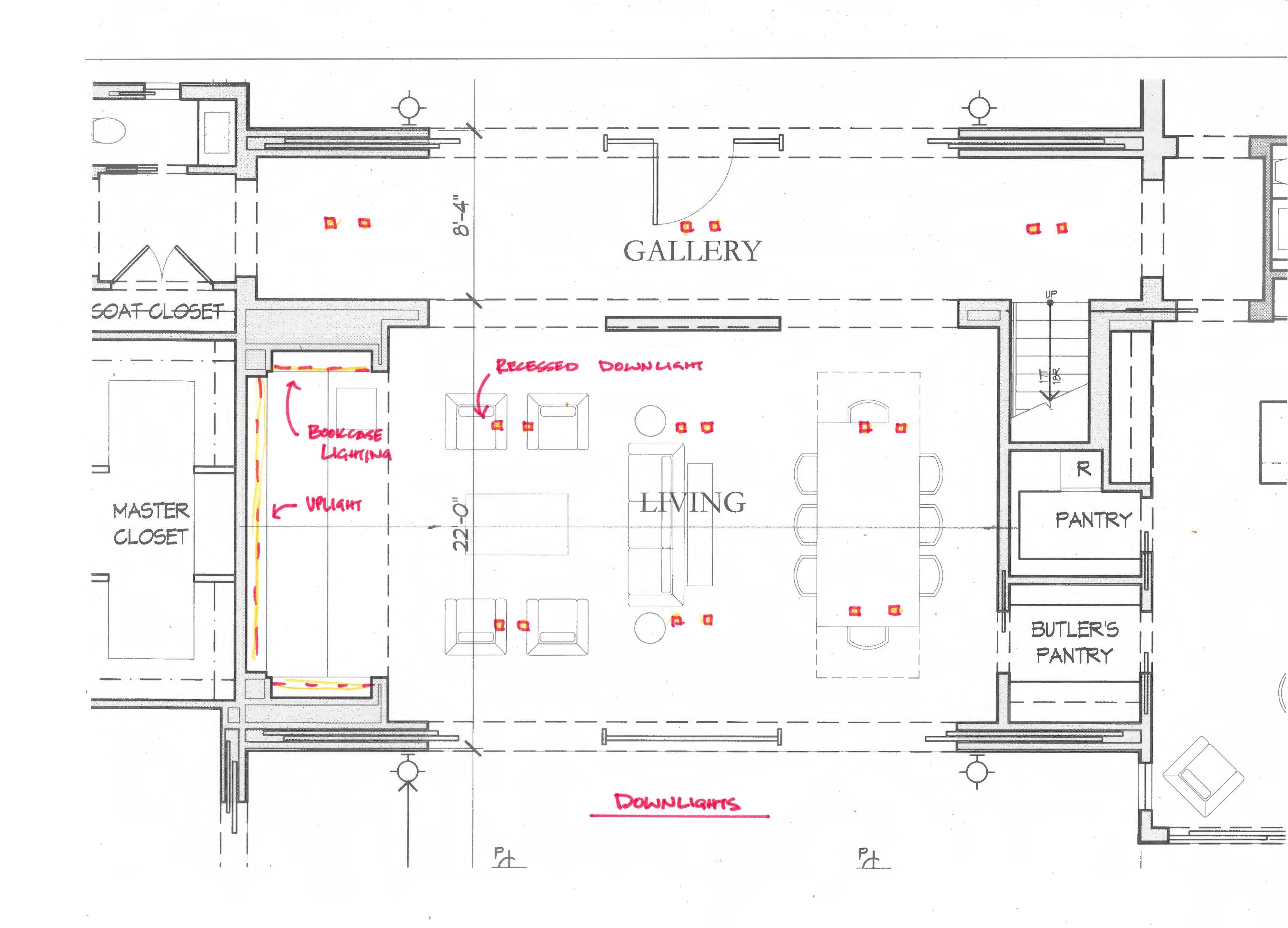 Downlight Layout Layout Floor Plans Downlights
