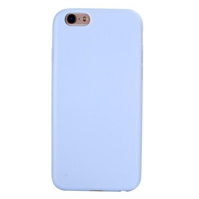 84660f67a85 Compatible Brand: Apple iPhones Design: Plain,Matte,Cute Type: Fitted Case  Features: Macaron colors, shockproof, soft matte summer style Size: 4.7