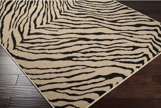 Surya Alfresco Thin Pile Rug In Black Alf 9517 Indoor Outdoor Rugs Rugs Outdoor Rugs