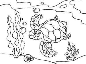 Animal Coloring Ocean Page Fish Pages Big