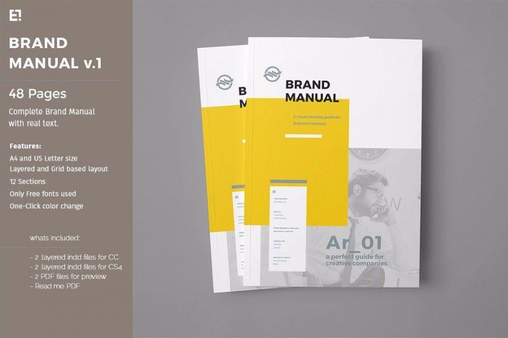brand manual template Identity  Branding Pinterest Brand - manual design templates