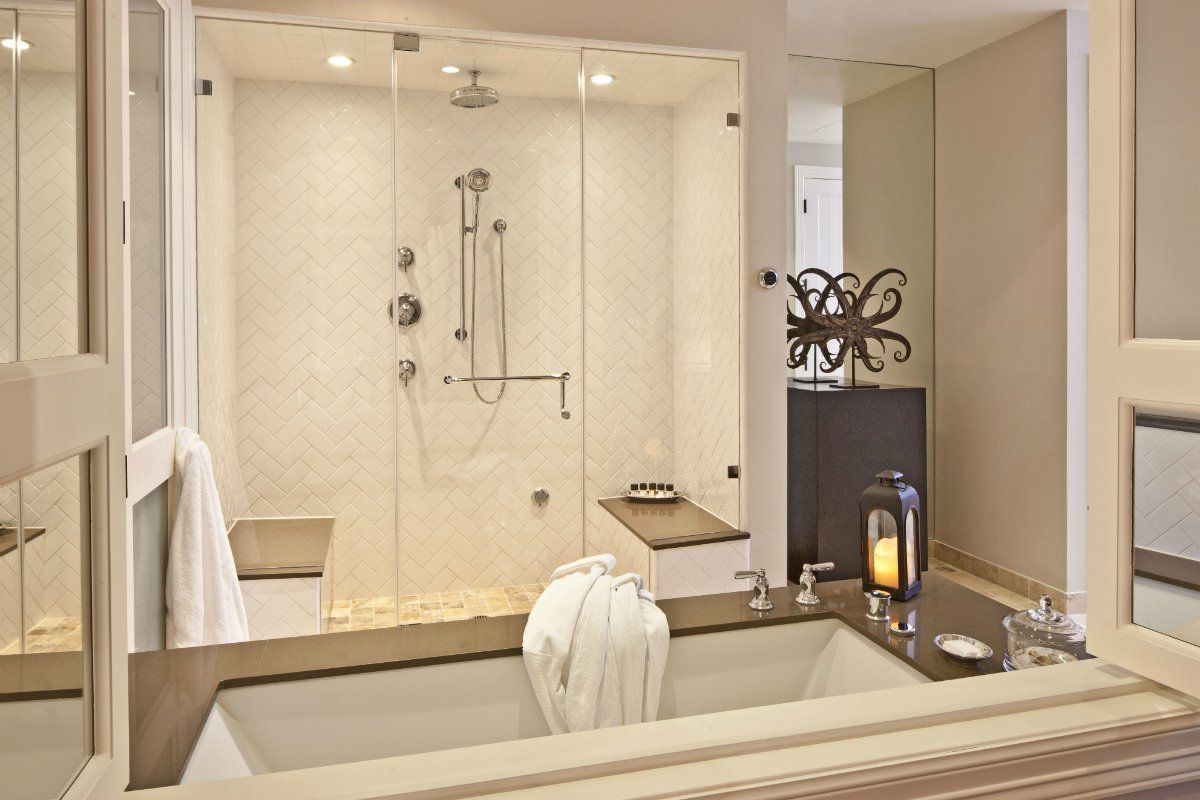 The Ensuite Bathroom Of A Suite At Hotel Yountville