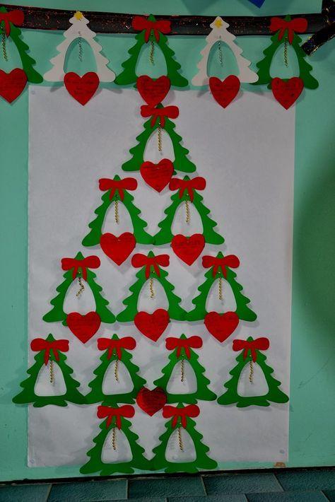 Addobbi Natalizi Scuola Infanzia.Altro Suggerimento Facile E Veloce Per Addobbare La Scuola Le Aule E La Casa In Particolare L Alberi Di Natale Bambini Di Natale Bambini Artigianato Di Natale