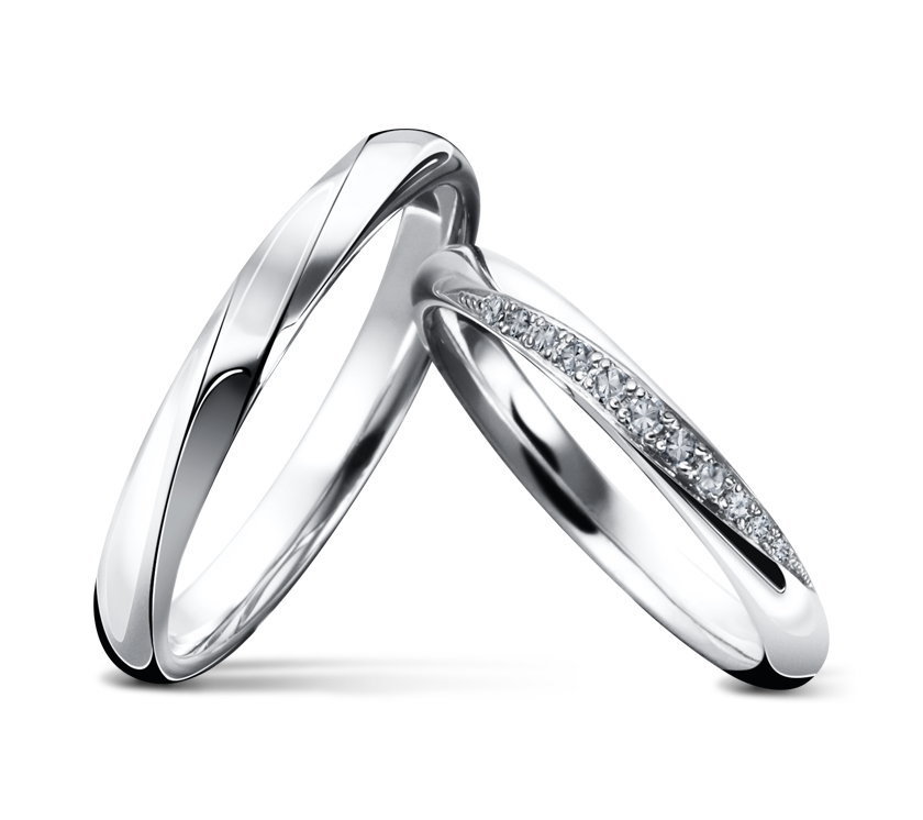 White Gold Couple Wedding Band His And Hers Rings Matching Couples Diamond Bands