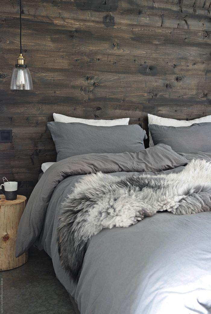 Svennhytta: Soverommet   Nordic interior, , Broste Copenhagen, Concrete floor, Rustic, Cabin