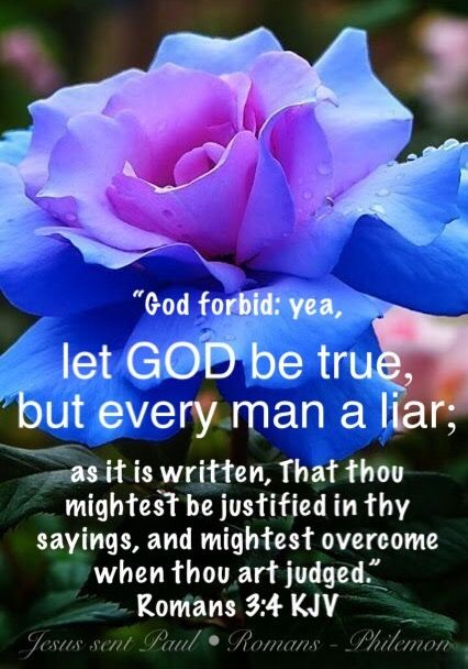 Image result for let god be true and every man a liar kjv