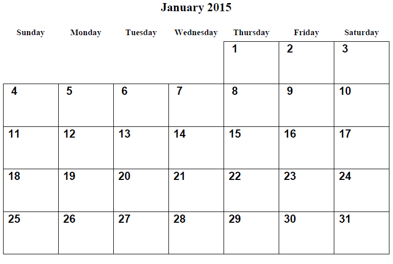 2015 calendar | January 2015 Printable Calendar | Ideas for the ...
