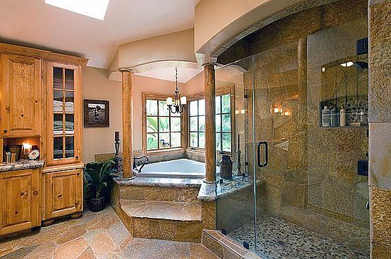 loving the design of the walk-in shower and the bath, ignore the
