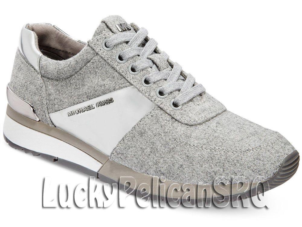 M Michael Greysilver Sneakers Kors Allie medium Trainer nwb D2WEH9YIeb