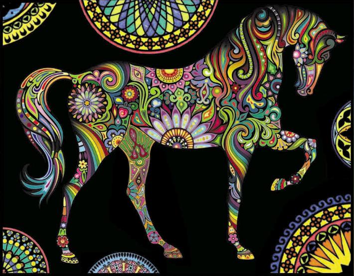 Disegno Da Colorare In Velluto E Cartoncino Con Pennarelli Inclusi