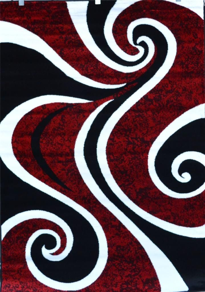 0327 Red Blue Purple Gray Black Modern Area Rug Comteporary Abstract Carpet New