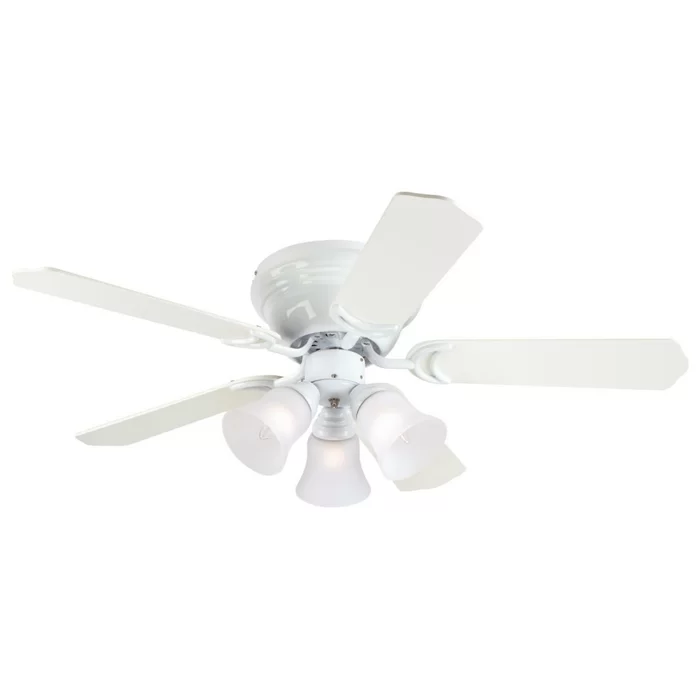 42 Rosenblatt 5 Blade Standard Ceiling Fan With Pull Chain And Light Kit Included In 2020 White Ceiling Fan Ceiling Fan With Light Ceiling Fan