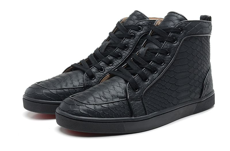 low priced 5013f 9d0af Christian Louboutin Rantus Flat Python Leather High Top Mens ...