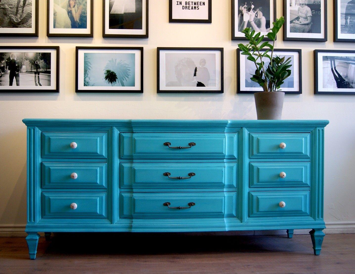 Turquoise Dresser Sideboard By Poppyseedliving On Etsy 675 00