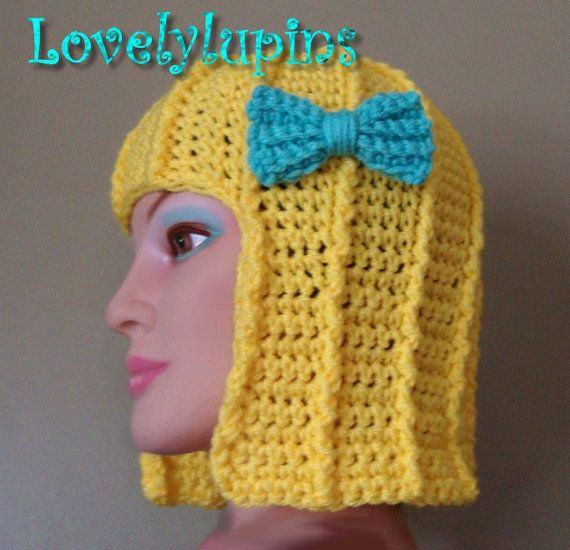 Hair Hat or Wig Hat Crochet Pattern Cute Stylish by LovelyLupins ... 4fee2c439cd