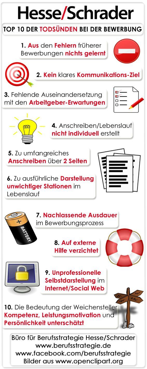 Die Hesse Schrader Top 10 Der Todsunden Der Bewerbung Bewerbung Bewerbungsgesprach Lebenslauf